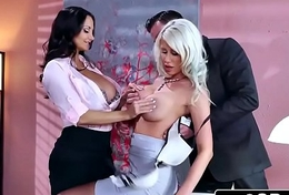 Sexy Triune in eradicate affect Office - Ava Addams, Riley Jenner