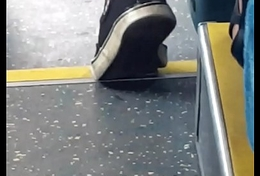 Shoes candid in bus 2